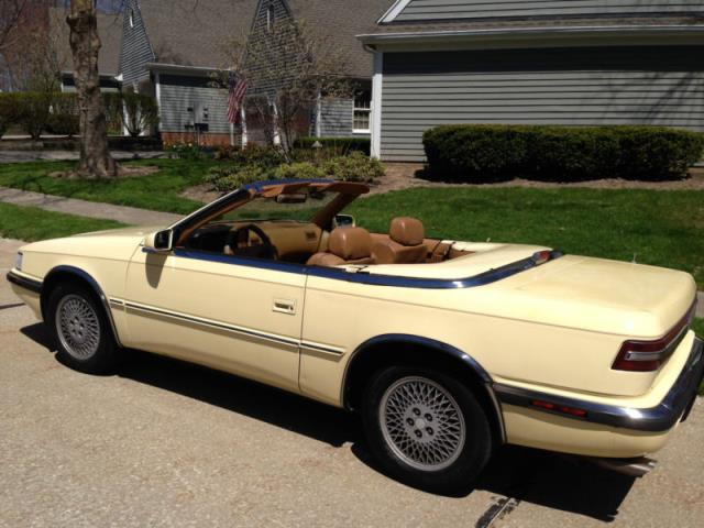 1989 chrysler chrysler other base convertible 2 door dayton cars for sale used cars for. Black Bedroom Furniture Sets. Home Design Ideas